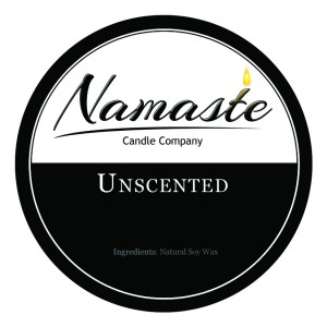 Unscented Candle from Namaste Candle Company